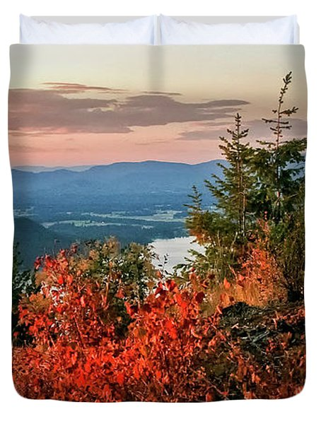 Duvet Cover featuring the photograph Gold Hill Sunset by Albert Seger