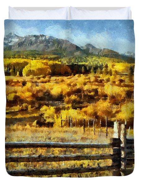 Golden Autumn Duvet Cover by Jeff Kolker