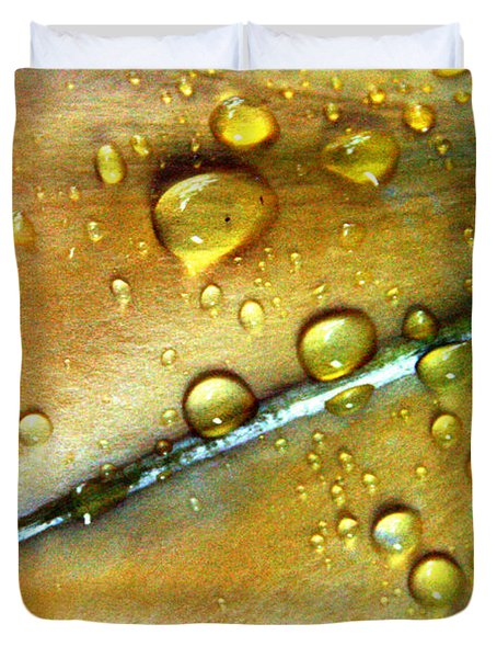 Golden Cup Flower Study 3 Duvet Cover