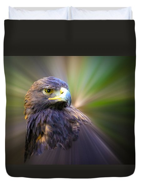 Golden Eagle Fade Duvet Cover by Steve McKinzie