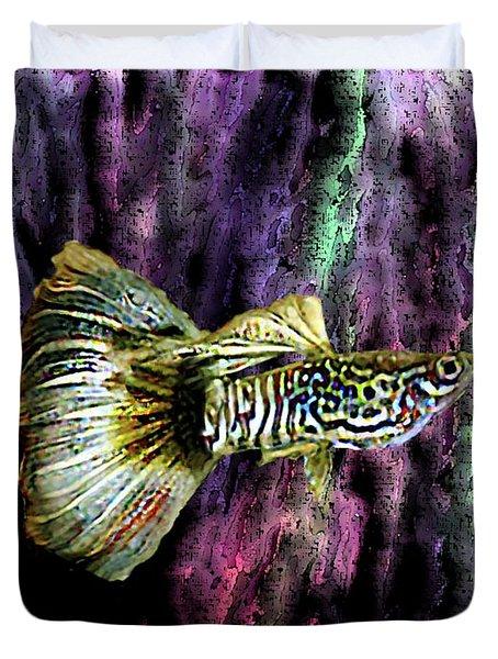 Golden Fish Duvet Cover by Mario Perez