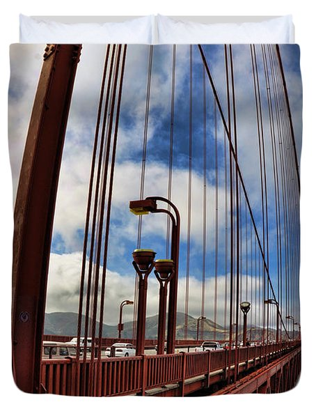 Duvet Cover featuring the photograph Golden Gate Bridge - 7 by Mark Madere