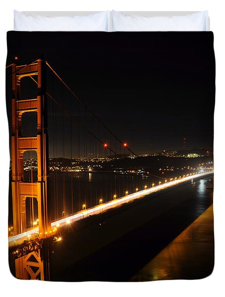 Duvet Cover featuring the photograph Golden Gate Bridge 2 by Vivian Christopher