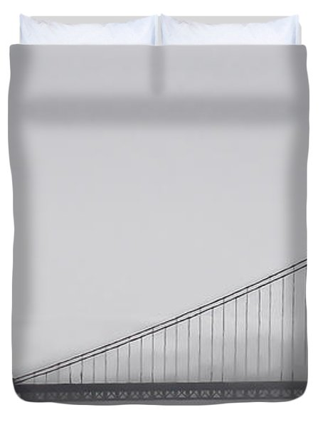Duvet Cover featuring the photograph Golden Gate Morning by Don Schwartz