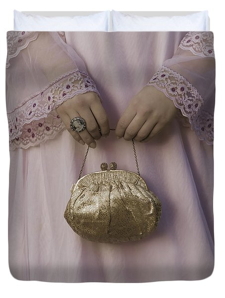 Golden Handbag Duvet Cover by Joana Kruse