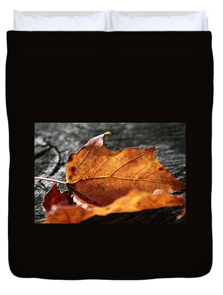 Golden Leaf Duvet Cover