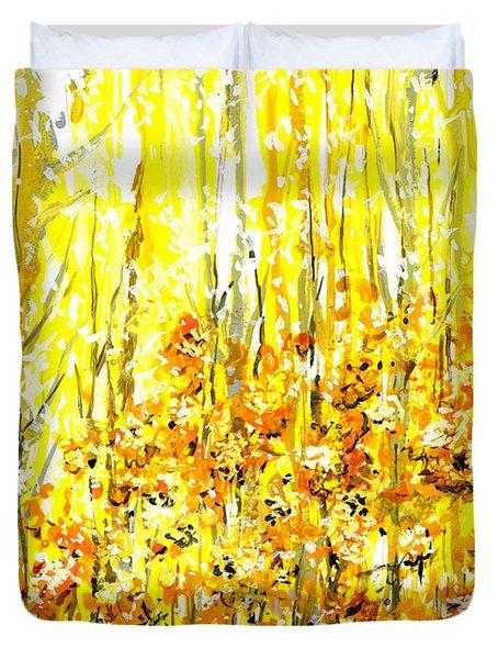 Golden Meadow Duvet Cover by Elaine Hodges