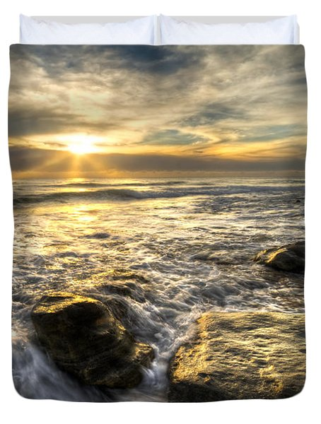 Golden Nuggets Duvet Cover by Debra and Dave Vanderlaan