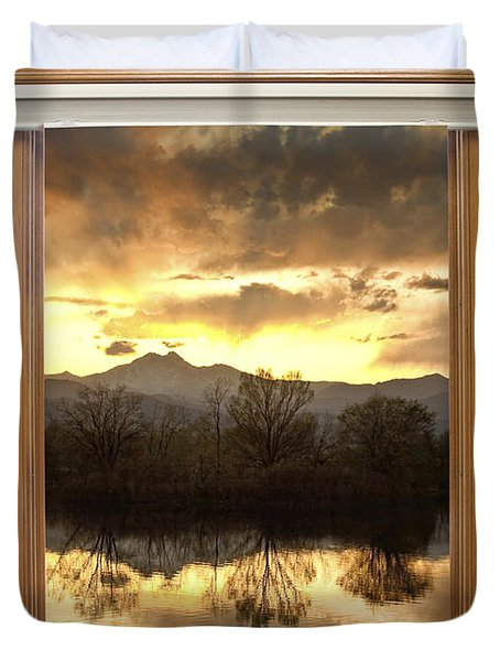 Golden Ponds Window With A View Duvet Cover by James BO  Insogna