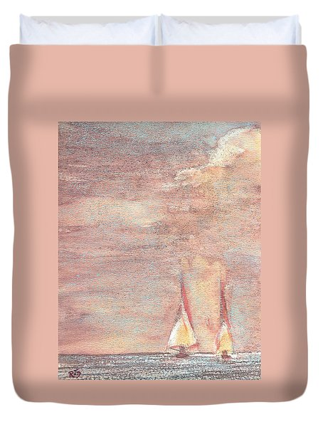 Golden Sails Duvet Cover