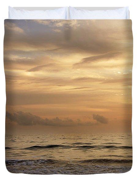 Golden Sea Duvet Cover by Ivy Ho
