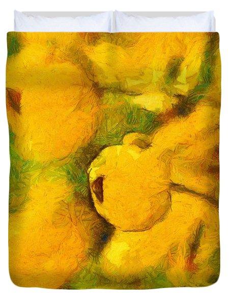 Golden Shower Duvet Cover