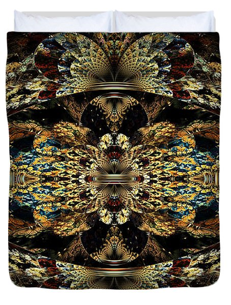 Golden Split Crop Duvet Cover by Peggi Wolfe