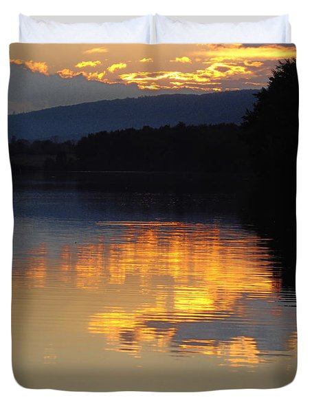 Golden Sunset Duvet Cover by Vilas Malankar