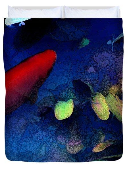 Goldfish Duvet Cover by Ron Jones