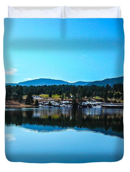 Duvet Cover featuring the photograph Golf Course by Shannon Harrington