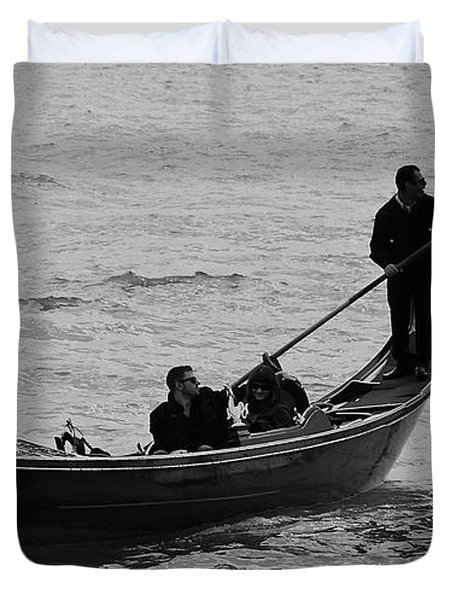 Duvet Cover featuring the photograph Gondola  by Eric Tressler