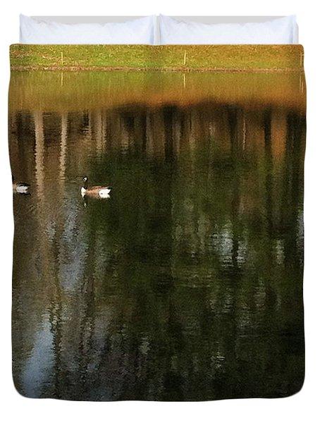 Goose Goose Duck Goose Duvet Cover by Trish Hale