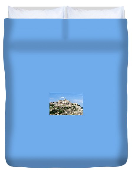 Duvet Cover featuring the photograph Gordes In Provence by Carla Parris