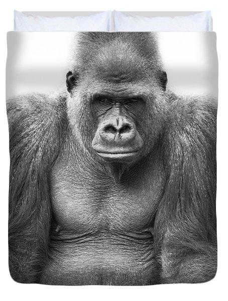 Gorilla Duvet Cover by Darren Greenwood
