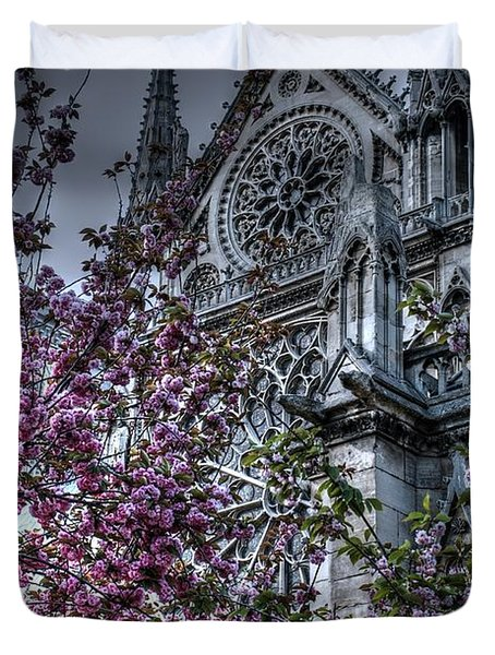 Gothic Paris Duvet Cover by Jennifer Ancker