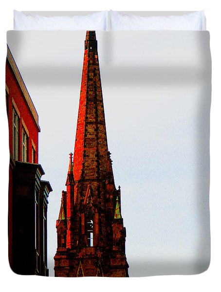Gothic Spire Duvet Cover by Marie Jamieson