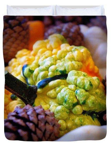Duvet Cover featuring the photograph Gourds 2 by Deniece Platt