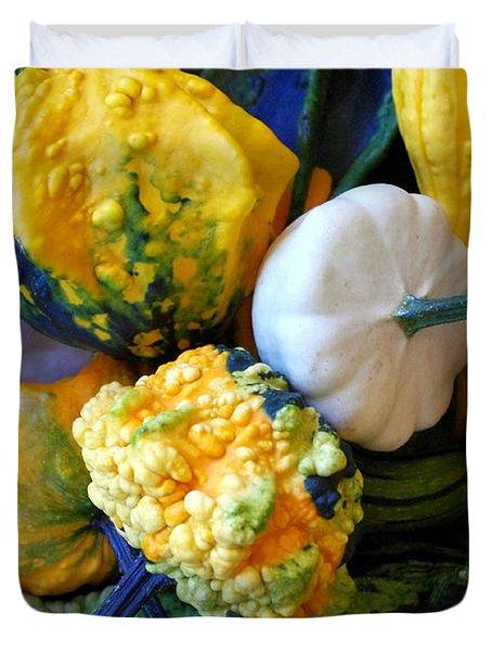 Duvet Cover featuring the photograph Gourds 8 by Deniece Platt