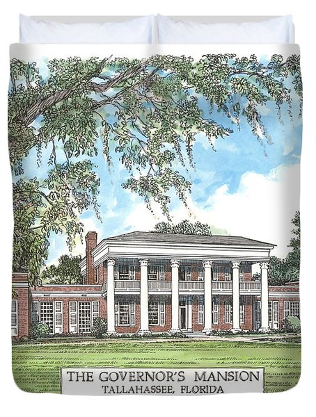 Governors Mansion Tallahassee Florida Duvet Cover