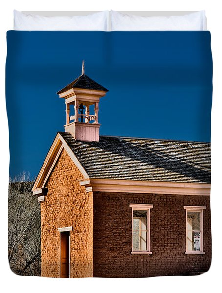 Grafton Schoolhouse Duvet Cover by Christopher Holmes