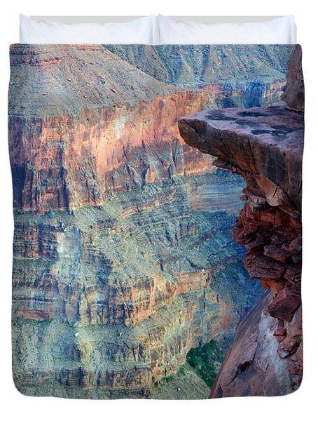 Grand Canyon A Place To Stand Duvet Cover by Bob Christopher