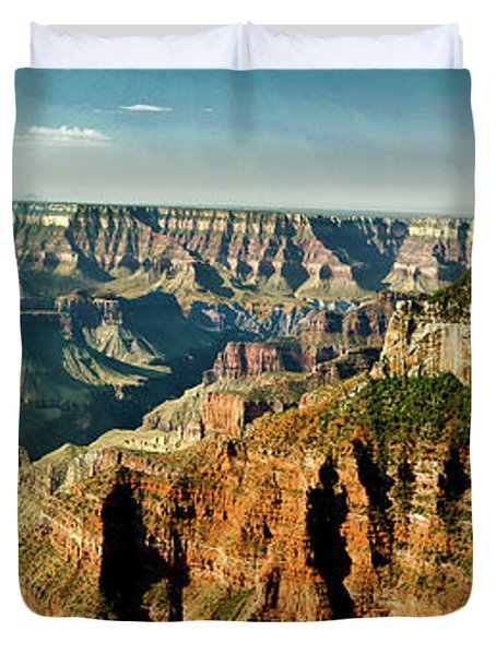 Grand Canyon Angel Panorama Duvet Cover by Bob and Nadine Johnston