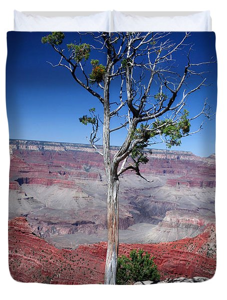 Duvet Cover featuring the photograph Grand Canyon Number Two by Lon Casler Bixby