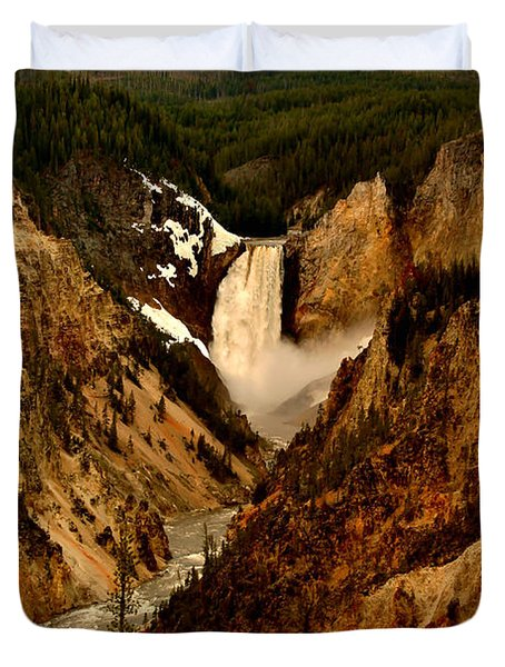 Grand Canyon Of The Yellowstone Duvet Cover by Ellen Heaverlo