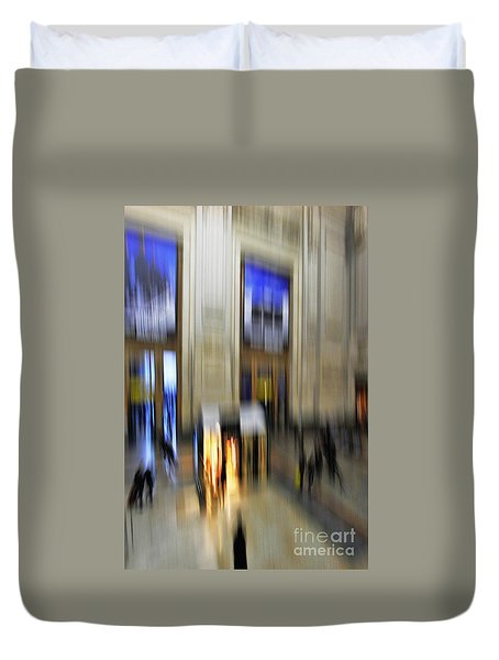 Duvet Cover featuring the photograph Grand Central Station Italian Style by Andy Prendy
