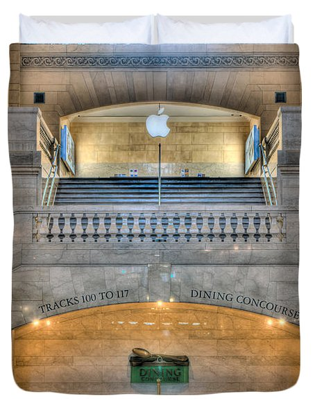 Grand Central Terminal East Balcony I Duvet Cover by Clarence Holmes