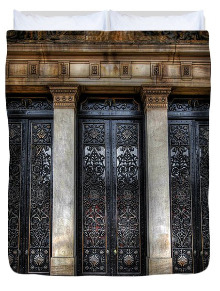 Grand Door - Leeds Town Hall Duvet Cover by Yhun Suarez