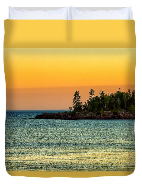 Grand Marais Minnesota Duvet Cover