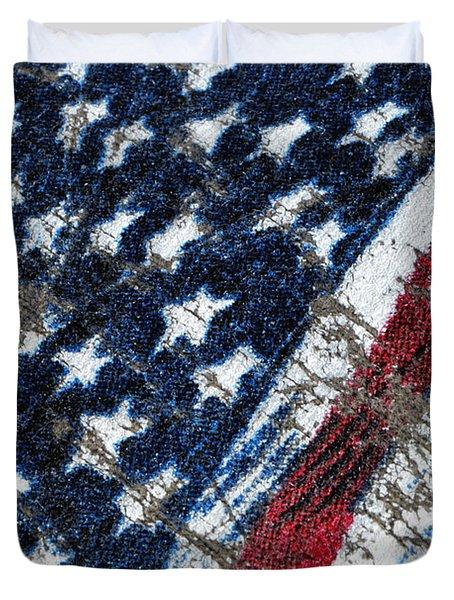 Grand Ol' Flag Duvet Cover by Bill Owen
