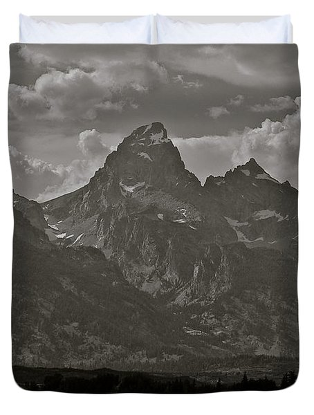Duvet Cover featuring the photograph Grand Tetons by Eric Tressler