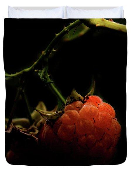Grandmas Berries Duvet Cover by Jerry Cordeiro