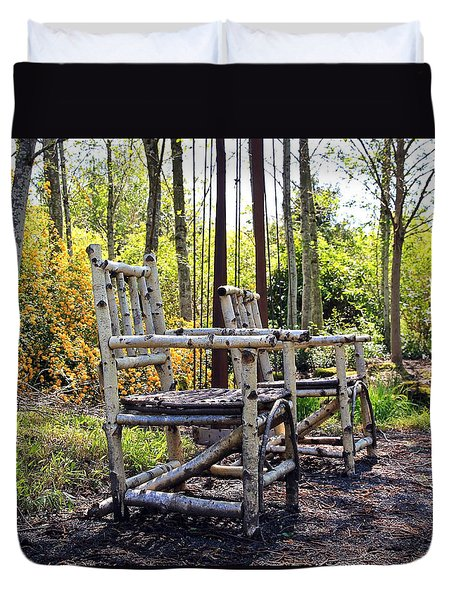 Grandmas Country Chairs Duvet Cover by Athena Mckinzie