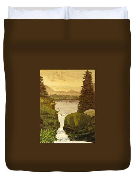 Grandpa Mountain Duvet Cover by Mitzi Foreman