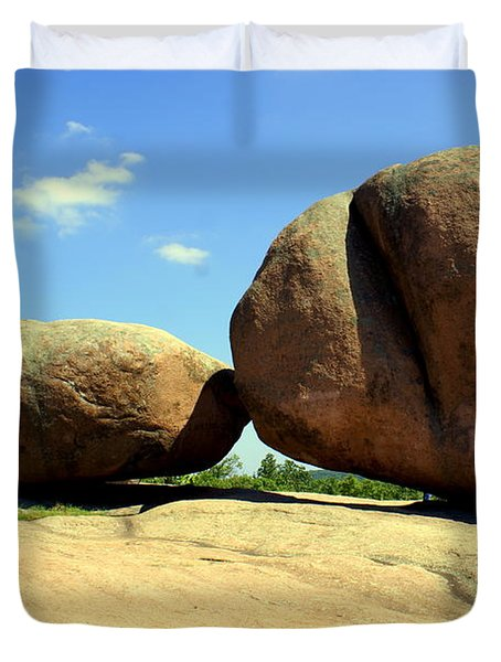 Granite Boulders 2  Duvet Cover by Marty Koch