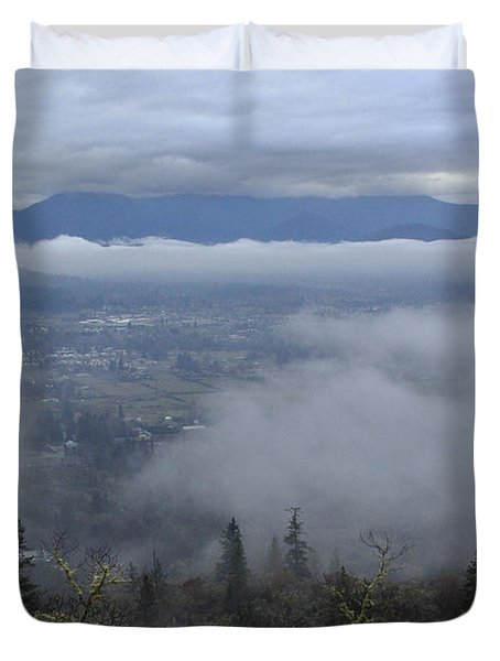 Grants Pass Weather Duvet Cover by Mick Anderson