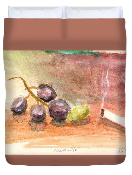 Grapeality Duvet Cover by Rod Ismay