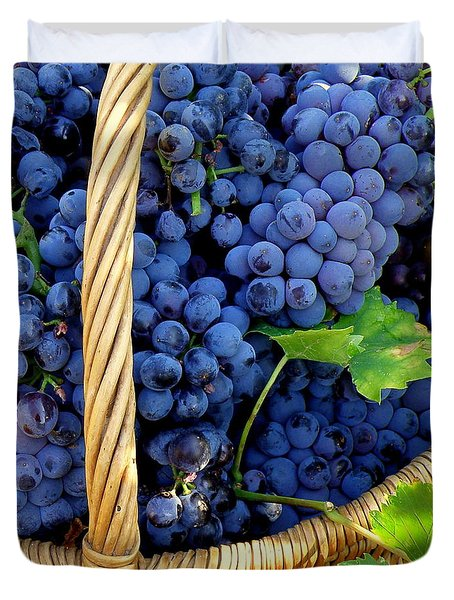 Grapes In A Basket Duvet Cover by Lainie Wrightson
