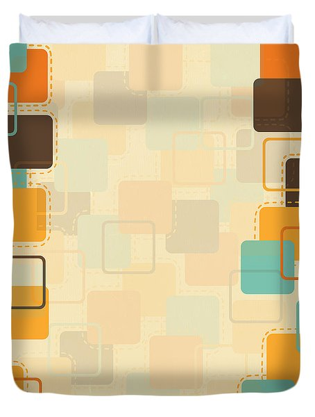 Graphic Square Pattern Duvet Cover by Setsiri Silapasuwanchai