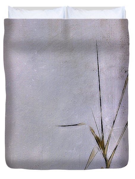 Grass And Wall Duvet Cover by Judi Bagwell