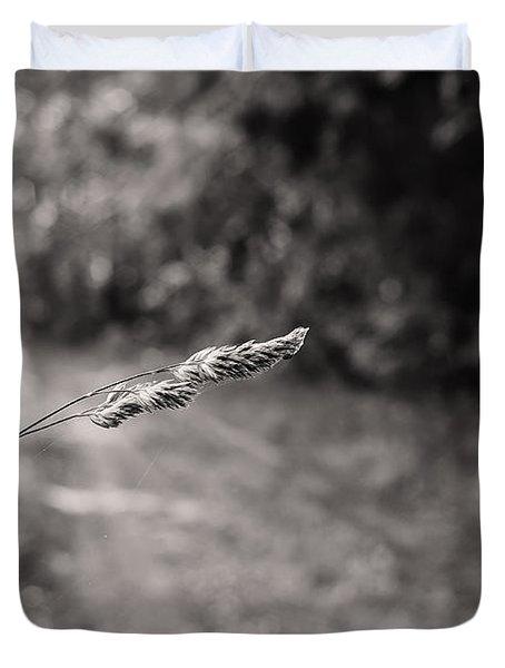 Grass Over Dirt Road Duvet Cover